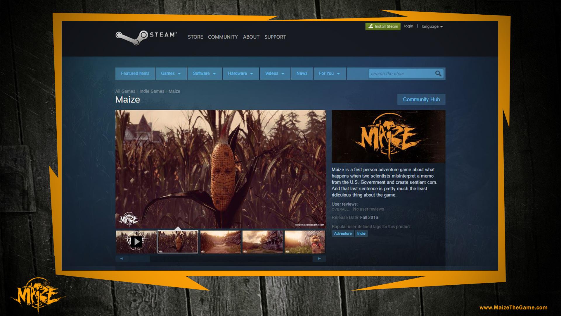 Maize_Steam_Screen